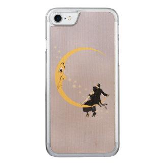 Vintages verärgertes sichelförmiges Mond-Gesicht Carved iPhone 7 Hülle