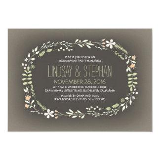 Vintages Verlobungs-Party des romantischen 12,7 X 17,8 Cm Einladungskarte