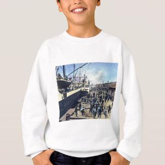 Vintages Verschiffen Yokohama-Hafen-Japans 横浜港 Sweatshirt