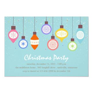 Vintages Verzierungs-Weihnachten/Feiertags-Party Karte