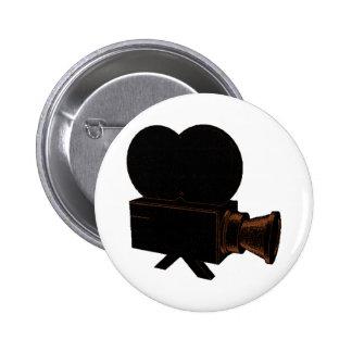 Vintages Video Runder Button 5,7 Cm