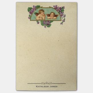 Vintages viktorianisches kundenspezifisches post-it haftnotiz