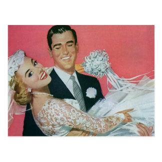 Vintages Wedding Save the Date! Glückliche Postkarte