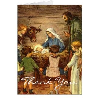 Vintages Weihnachten danken Ihnen Mitteilungskarte