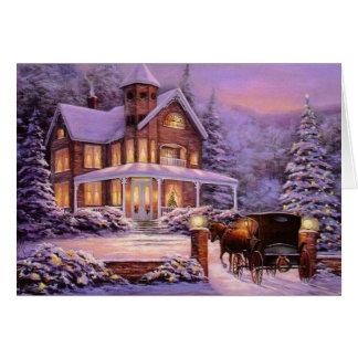 Vintages Weihnachten im Land Grußkarte