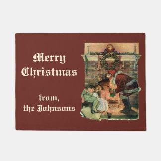 Vintages Weihnachten, viktorianische Türmatte