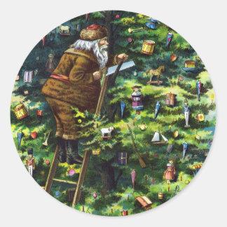Vintages Weihnachten, viktorianischer Runder Sticker