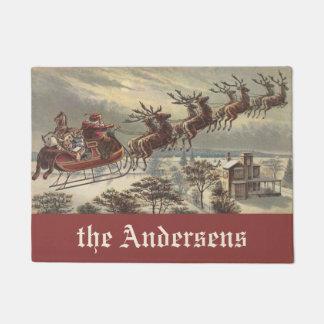 Vintages Weihnachten, viktorianischer Türmatte