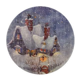 Vintages Weihnachten, Weihnachtsmann-Werkstatt Schneidebrett