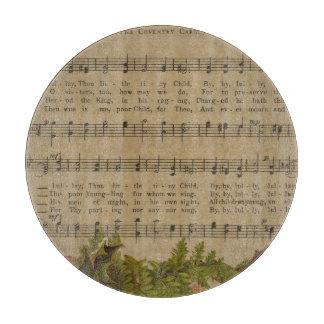 Vintages Weihnachtscarol-Musik-Blatt Schneidebrett