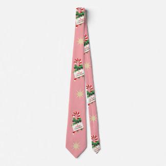 Vintages Weihnachtsmuster, Zuckerstangen mit Rosa Individuelle Krawatte