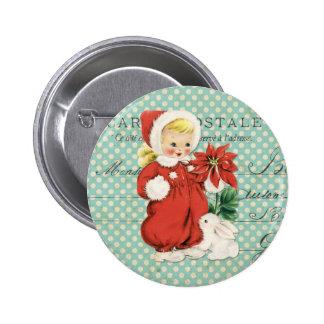 Vintages Weihnachtsniedliche Runder Button 5,1 Cm