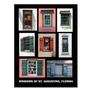 Vintages Windows von St Augustine, Florida Postkarte