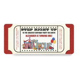 Vintages Zirkus-Karten-Geburtstags-Party 10,2 X 23,5 Cm Einladungskarte