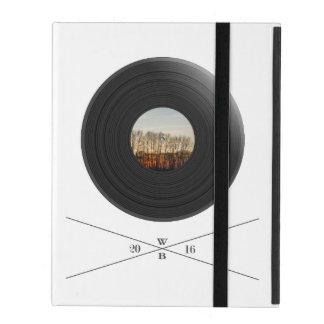 Vinyl/disc imprint with trees on the label iPad schutzhülle