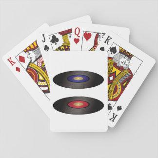 VinylPlattenen-Spielkarten Spielkarten