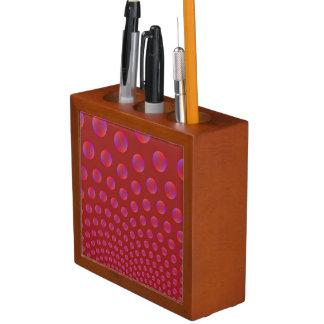 Violett und Rot sprudelt Schreibtisch-Organisator Stifthalter