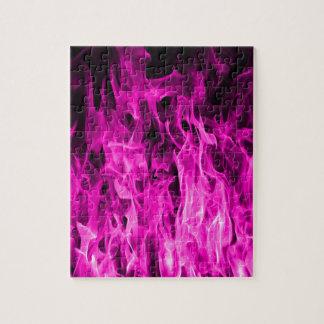 Violette Flamme und violette Feuerprodukte und Puzzle