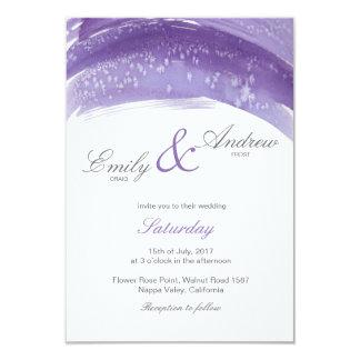 Violette Hoarfrost-Aquarell-Hochzeitskarte Karte