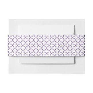 Violette lila Hochzeit des geometrischen Musters Einladungsbanderole