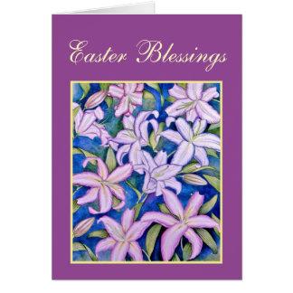 Violette Osterlilien Karte
