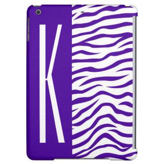 Violetter lila u. weiße Zebra-Streifen-Tierdruck