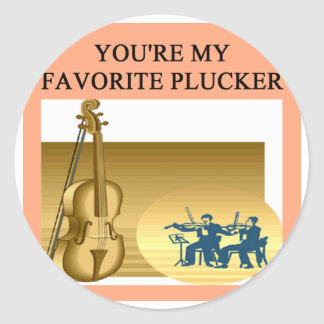 Violine Cello Violaspieler-Geschenk-T - Shirts Runder Aufkleber