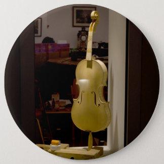 Violine im Einkaufsfenster Runder Button 15,3 Cm