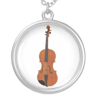 Violine mit traditionellem hölzernem Ende: Versilberte Kette