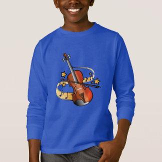Violine und Bogen mit Anmerkungen und Sternen T-Shirt
