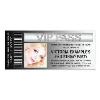 VIP führen Aufnahme-Karten-Geburtstags-Party 10,2 X 23,5 Cm Einladungskarte