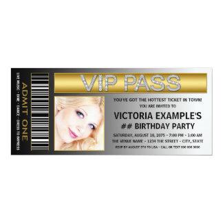 VIP führen Karten-Geburtstags-Party 10,2 X 23,5 Cm Einladungskarte