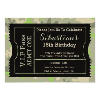 VIP führen Party-Aufnahme-Karte 12,7 X 17,8 Cm Einladungskarte