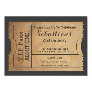 VIP führen Party-Aufnahme-Karte alte Papierart 12,7 X 17,8 Cm Einladungskarte