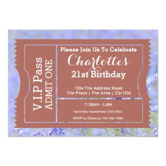 VIP führen Party-Aufnahme-Karten-Foto-Schablone 12,7 X 17,8 Cm Einladungskarte