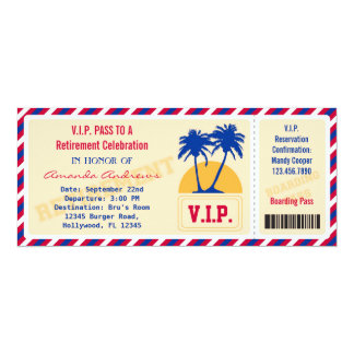 Vip-Karten-Ruhestands-Party Einladung
