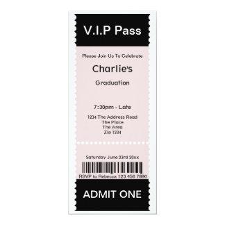 VIP verabschieden Abschluss-Party-Aufnahme-Karte 10,2 X 23,5 Cm Einladungskarte