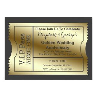 VIP verabschieden goldene Hochzeitstag-Karte 12,7 X 17,8 Cm Einladungskarte