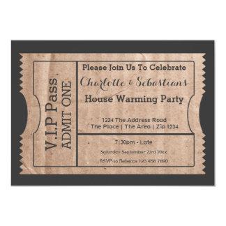 VIP verabschieden Haus-Erwärmungs-Pappe Themed 12,7 X 17,8 Cm Einladungskarte