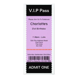 VIP verabschieden Party-Aufnahme-Karte 10,2 X 23,5 Cm Einladungskarte