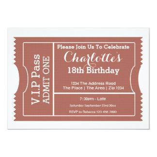 VIP verabschieden Party-Aufnahme-Karte 12,7 X 17,8 Cm Einladungskarte