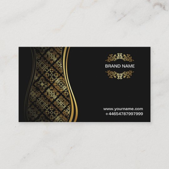 Vip Visitenkarte Schwarz Gold Visitenkarte Zazzle At