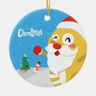 VIPKID Weihnachtsverzierung Keramik Ornament