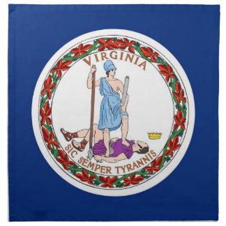 Virginia-Staats-Flaggen-Amerikaner MoJo Serviette