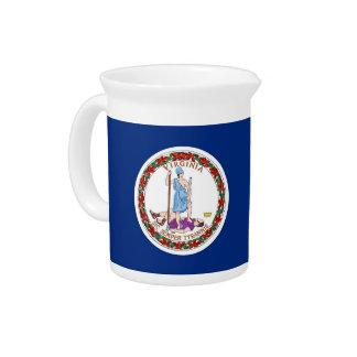 Virginia-Staats-Flaggen-Krug Getränke Pitcher