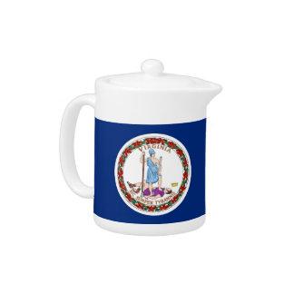 Virginia-Staats-Flaggen-Teekanne