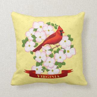 Virginia-Staats-Kardinals-Vogel und Kissen