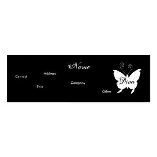 Visitenkarte des Diva-Schmetterlings-I -