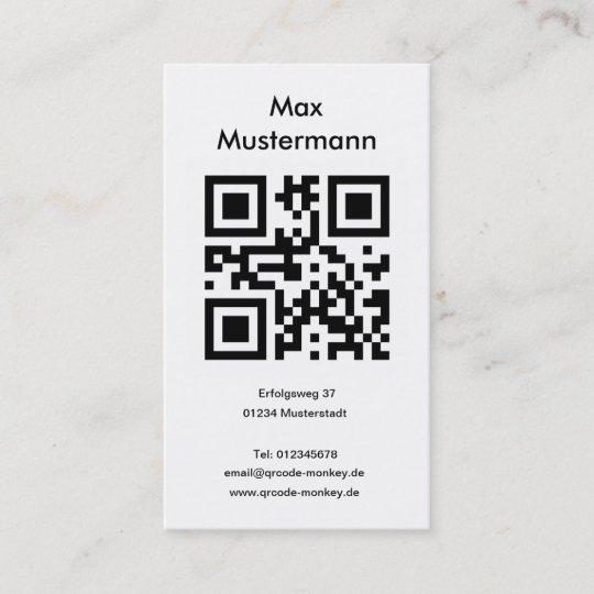 Visitenkarte Hochformat Individuell Gestaltbar