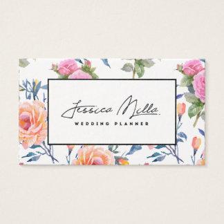 Visitenkarte mit Blumen